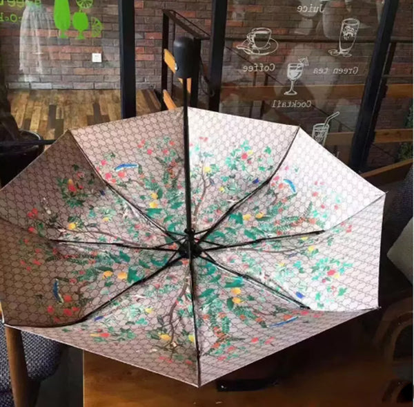 Classic Pattern Flower Logo Umbrella