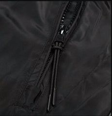 Waterproof Nylon Blend Hooded Jacket