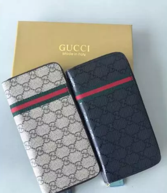 GUCCI Ribbon Long Zipper Wallet