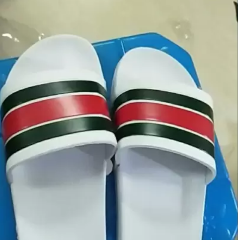 Brand Striped Sandals Causal