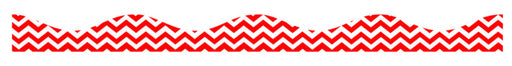 "12"" Red Chevron Magnetic Scalloped Border"