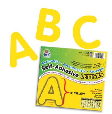 "Self-Adhesive 4"" Yellow Letters"