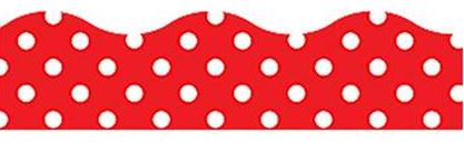 Red and White Polka Dot Magnetic Scalloped Border