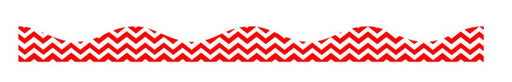 Red Chevron Magnetic Scalloped Border