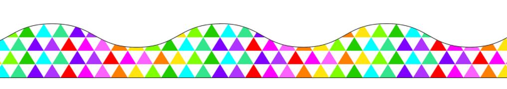Colored Triangle Magnetic Scalloped Border