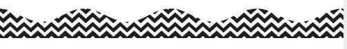 Black Chevron Magnetic Scalloped Border