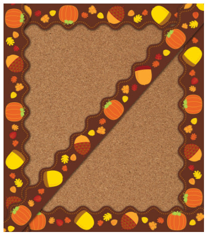 Acorns & Pumpkins Scalloped Border