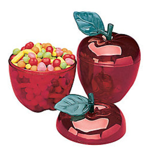 Plastic Red Apple Container