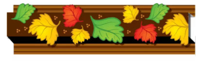 Autumn Leaves Straight Border