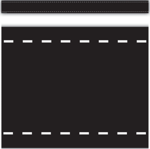 Black With White Dashes Straight Border