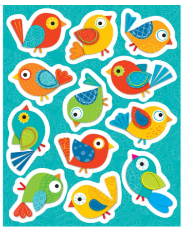 Boho Birds Sticker Set