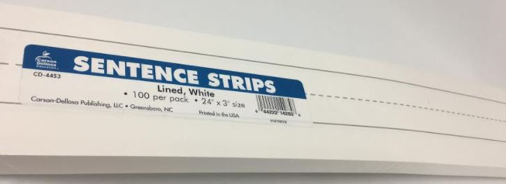 White Sentence Strips