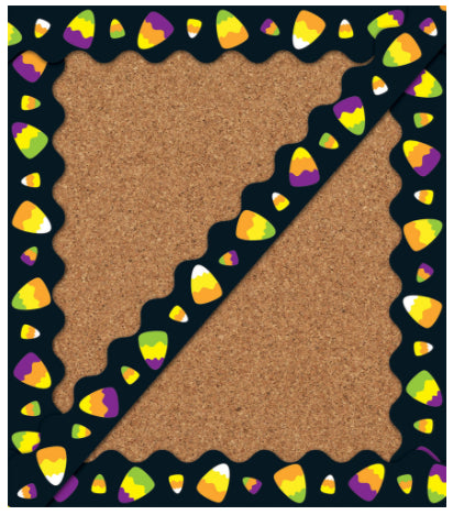Candy Corn Scalloped Border