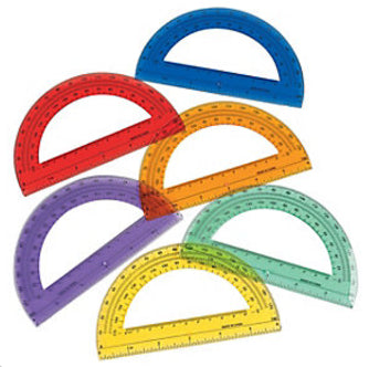 Colored Plastic Protractor