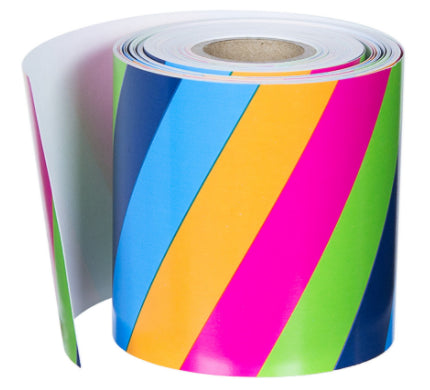 Colorful Stripes Straight Rolled Border