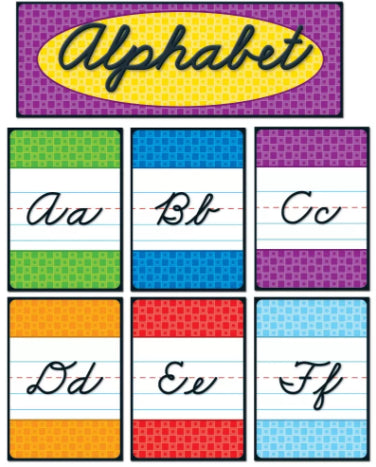 Cursive Alphabet Quick Stick Bulletin Board Set