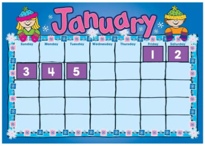 D.J. Kids Calendar Bulletin Board Set