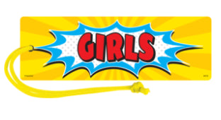Girls Superhero Hall Pass