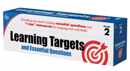 Learning Targets & Essential Questions Pocket Chart Cards Grade 2