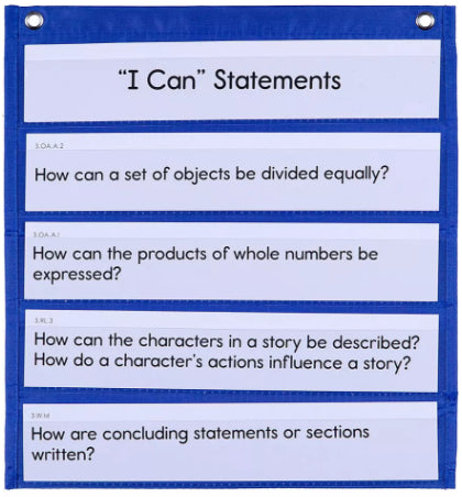 Learning Targets & Essential Questions Pocket Chart Cards Grade 3