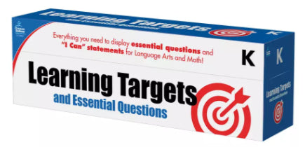 Learning Targets & Essential Questions Pocket Chart Cards Grade K
