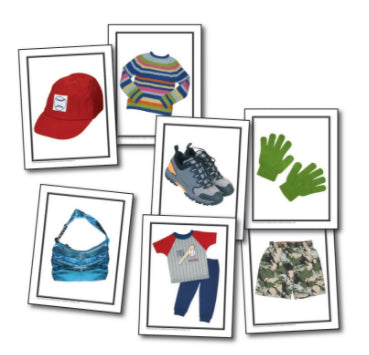 Photographic Learning Cards, Children's Clothing