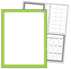 Lime Polka Dots Wipe Off Chart