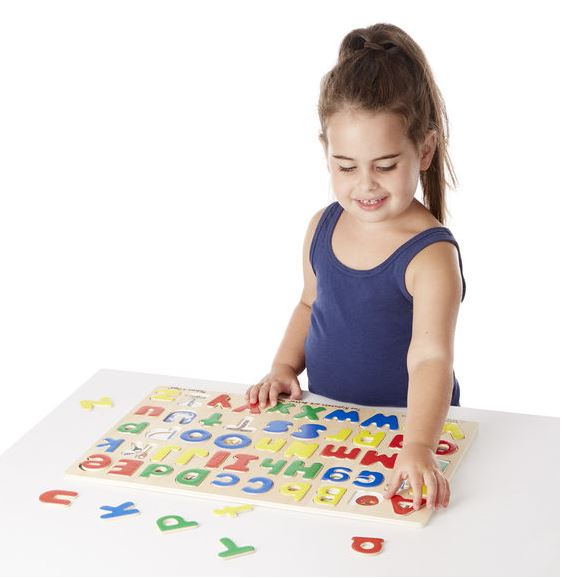 Upper and Lowercase Alphabet Wooden Puzzle by Melissa & Doug