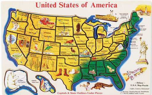 Wooden USA Map by Melissa & Doug