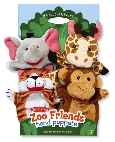 Zoo Friends Hand Puppets by Melissa & Doug