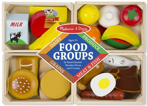 Wooden Play Food Groups by Melissa & Doug