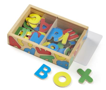 Magnetic Wooden Alphabet Letters by Melissa & Doug