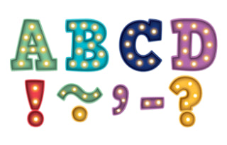 "Marquee Bold Block 3"" Magnetic Letters"