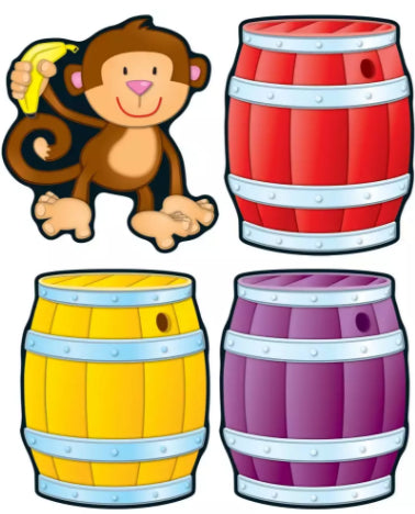 Monkeys and Barrels Cut-Outs