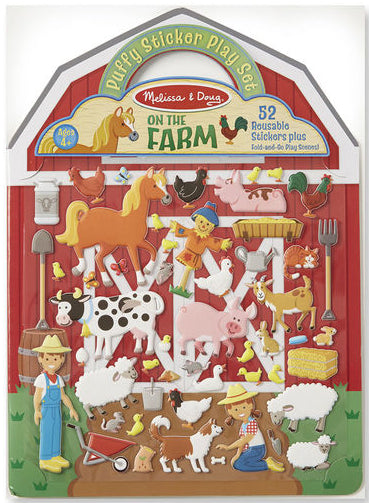On the Farm Reusable Puffy Sticker Set by Melissa & Doug