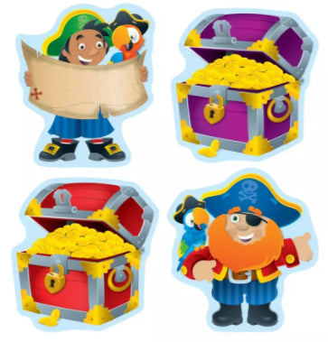 Pirates & Treasure Chests Cut-Out Buddies