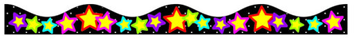 Stars Magnetic Scalloped Border