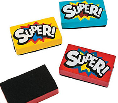 Super Hero Mini Dry Erase Eraser