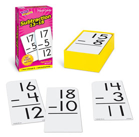 Subtraction Flash Cards 13-18