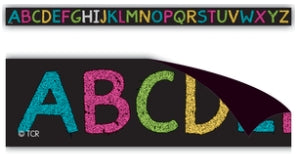 Chalkboard Brights Alphabet Magnetic Strips