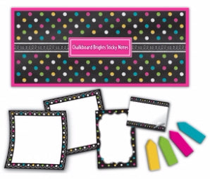Chalkboard Brights Sticky Notes