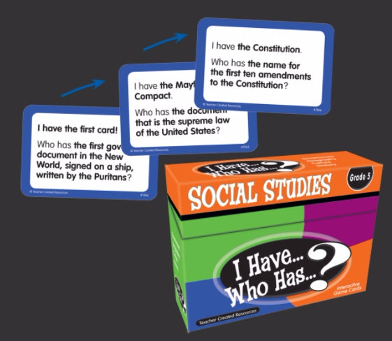 I Have, Who Has Social Studies Game, Grade 5