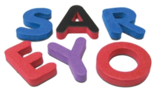 Magnetic Foam: Small Uppercase Letters