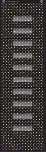 Chalkboard Brights 10 Pocket File Storage Pocket Chart