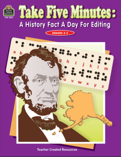 Take Five Minutes: A History Fact a Day for Editing, Grades 3-5