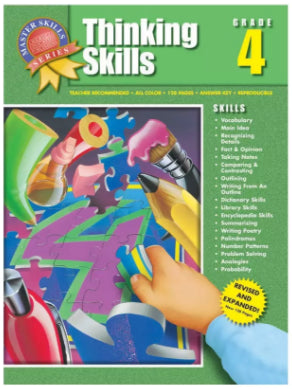 Master Skills Series: Thinking Skills Workbook Grade 4