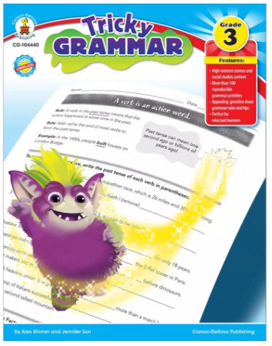 Tricky Grammar Resource Book, Grade 3