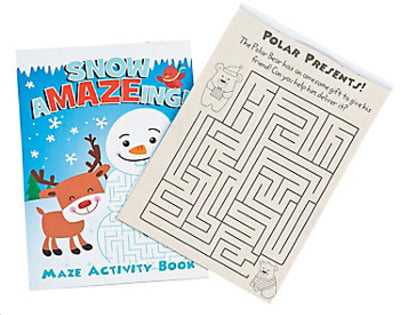 Winter Mazes Activity Book