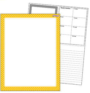 Yellow Polka Dots Wipe Off Chart
