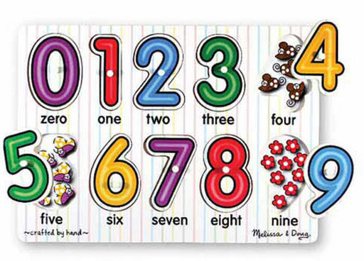 See Inside Numbers Peg Puzzle by Melissa & Doug